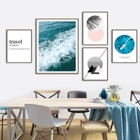 sea wave yacht quote geometry wall art canvas painting nordic posters and prints wall pictures for living room minimalist decor