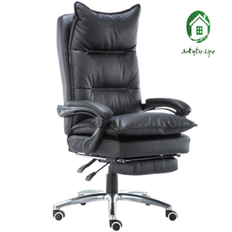 Кожаное офисное кресло для кабинета массажное откидывания компьютерное