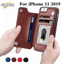 KISSCASE rétro PU cuir étui pour iphone 11 8 7X6 6s Plus XS Max XR carte Slot titulaire couverture pour Samsung S8 S9 Plus Note 8 9 10