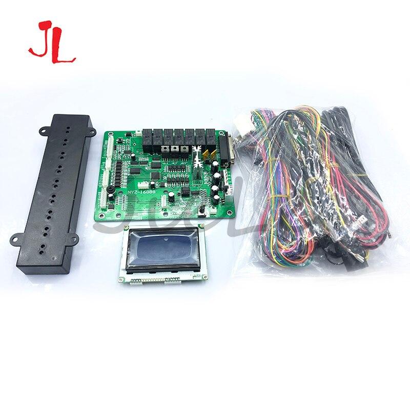 TW, garra inglesa, juego de grúa, placa base, dispensador de tickets conectable con arnés de cables, pantalla LCD, Sensor de conteo de premios