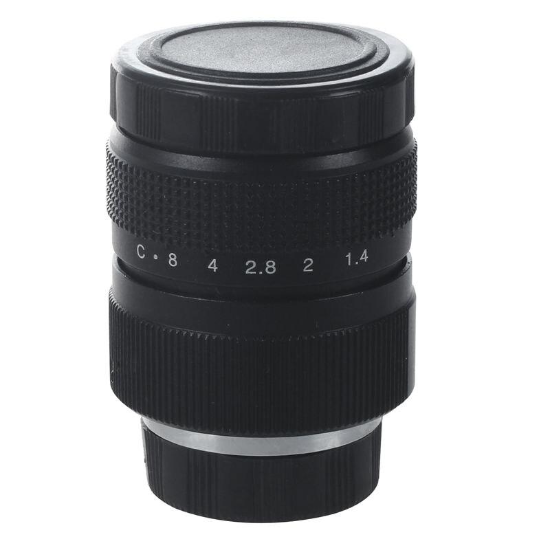 Televisión TV/lente CCTV Lens C montaje de cámara 25mm F1.4 en negro