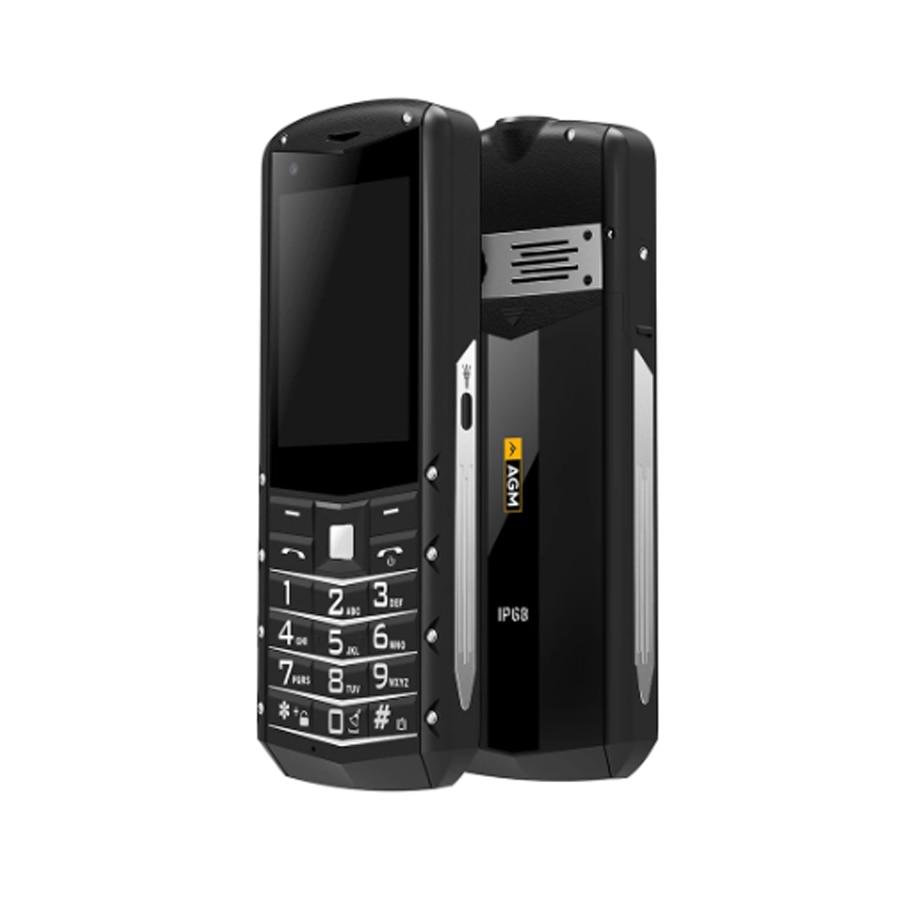 Перейти на Алиэкспресс и купить AGM M5 упрощенный Android OS 2,8 дюймов 4 аппарат не привязан к оператору сотовой связи Тип C сенсорный Экран IP68 Водонепроницаемый прочный популярные...