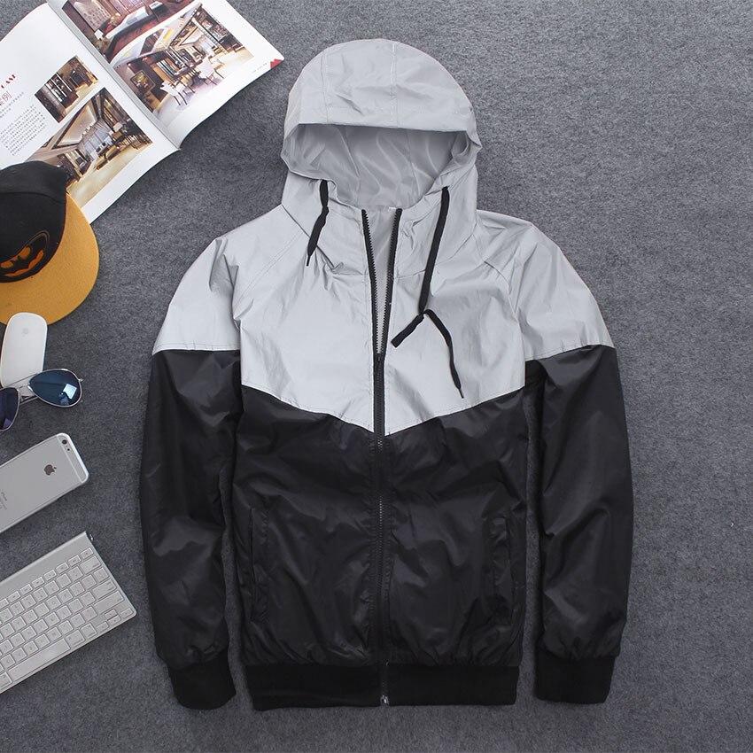 Chaqueta reflectante informal para pareja, chaqueta con capucha de Hip-Hop, Harajuku luminosa...