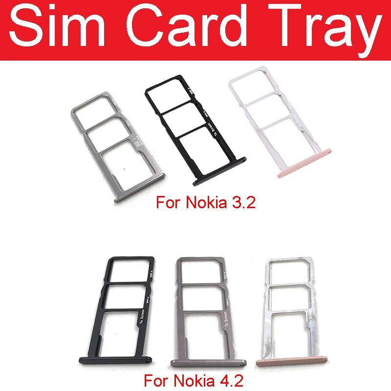 Nuevo conector de ranura de soporte de bandeja de tarjeta SIM para Nokia 3,2 adaptador de enchufe de lector de memoria SIM para Nokia 4,2 piezas de repuesto