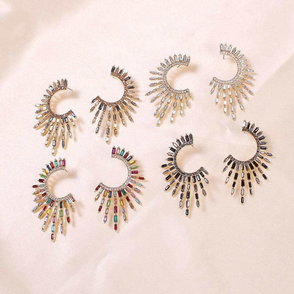 Pendientes colgantes de diamantes de imitación Lalynnly coreanos, Pendientes de gota de cristal, Pendientes para mujer, joyería brillante de moda para boda, nuevo E8122
