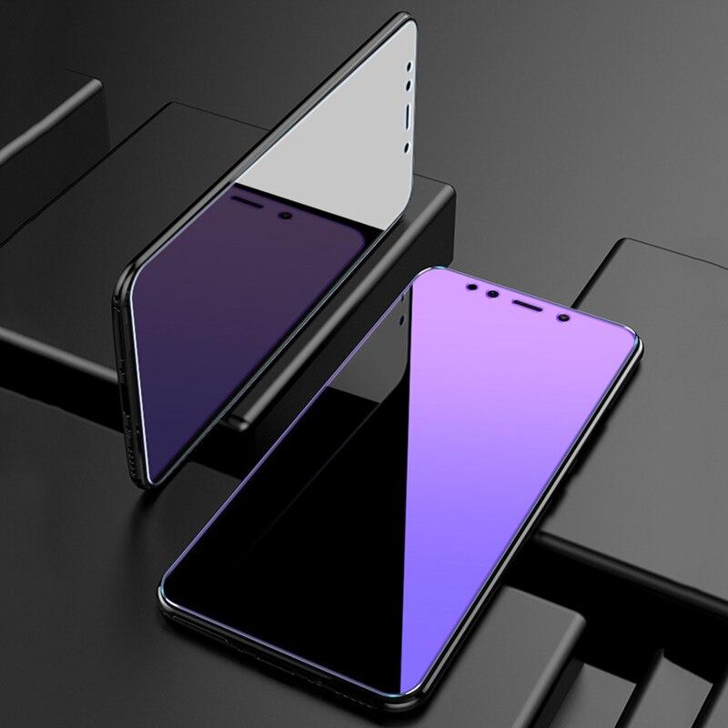 Lila Licht Gehärtetem Glas Für Xiaomi Redmi Hinweis 7 6 Pro 5 Plus 4X 4 3 S2 Screen Protector Für redmi 7 7A Volle Abdeckung Glas Film