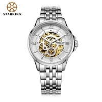 starking luxury watch men skeleton automatic mechanical watches famous brand stainless steel watch relogio masculino male clock