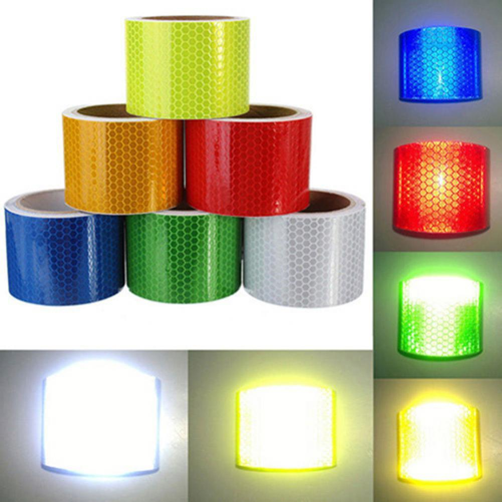 3m x 50mm High Intensity Safety Reflective Tape Self Adhesive Safty Tool Bicycle Stickers Car Access