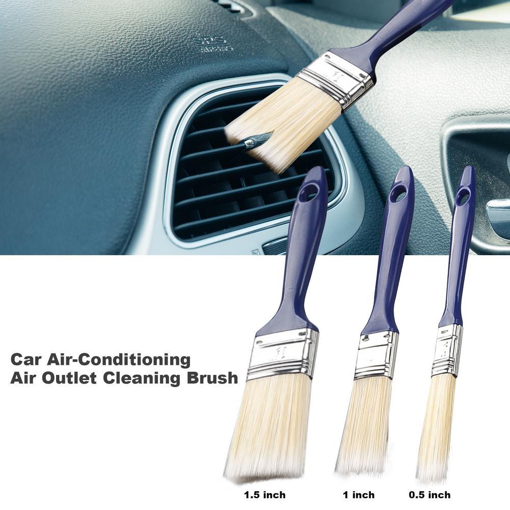 Щетка для детейлинга автомобиля, мягкая щетка для чистки приборной панели, с длинным зазором, для салона автомобиля