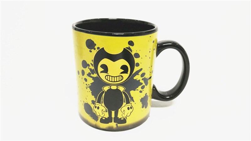Bendy y la máquina de tinta de dibujos animados anime color cambiar mark cup toy 10*11,5 cm Cambiar color por agua caliente
