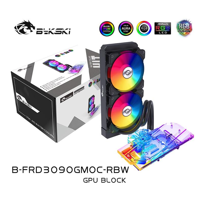 BYKSKI وحدة معالجة الرسومات AIO كتلة المياه لجيجابايت RTX 3080 3090 الألعاب/النسر/فيسين OC/توربو/مع 240 مللي متر المبرد/مضخة/A-RGB مروحة