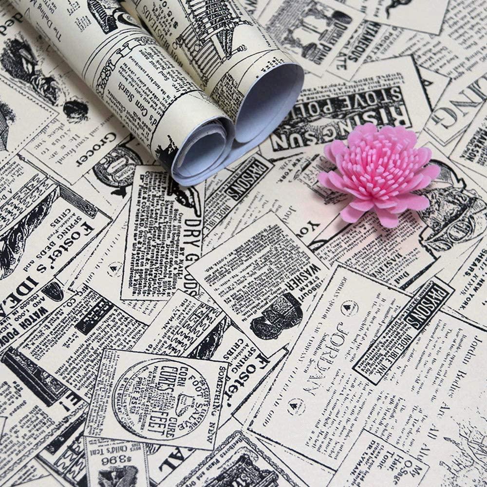 Фото - LUCKYYJ Vintage Newspaper Peel and Stick Wallpaper Decorative Wall Sticker Waterproof Vinyl Self Adhesive Shelf Drawer Liner vintage newspaper