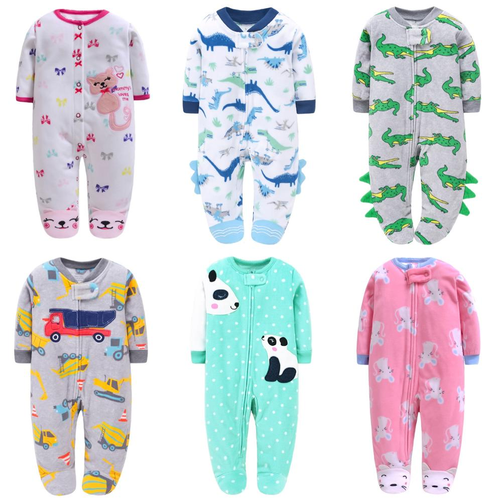 Baby pajamas fleece warm clothes baby romper newborn baby clothes boys costume coveralls toddler jumspuit baby winter clothes