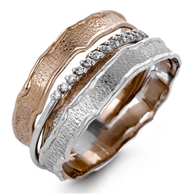 Anillo Multi dorado de 14K para mujer, piedra preciosa Natural pura de circón, Anillos de mujer, joyería de boda 925, joyería de plata, anillo de diamante bague