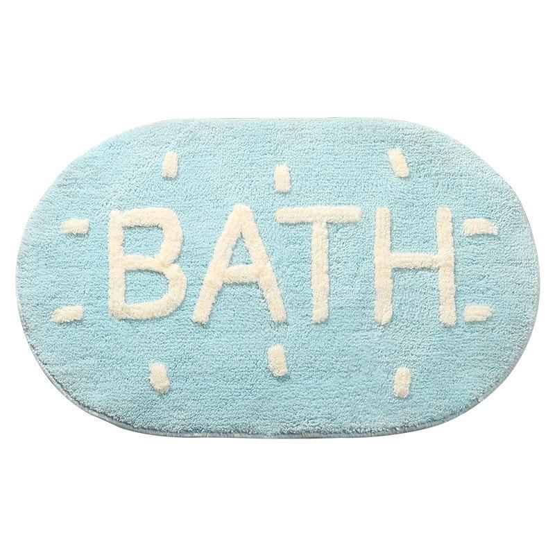 New Style Bathroom Suede Foot Mats Toilet Quick-drying Soft Foot Mats Water Cushion Door Bedroom Non-slip Carpet Blanket enlarge