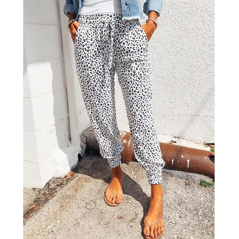 Фото - S-2XL Plus Size Casual Women Trousers Summer New Women's Loose Printed Casual Pants Harem Pants Fashion Print Streetwear Women new style plus size women s trousers loose zebra pattern casual trousers