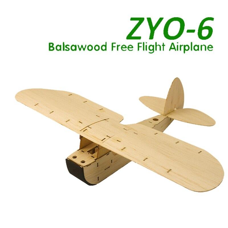 Neue Balsaholz Flugzeug Modell KIT Hand Starten Freies Flug Segelflugzeug Modell Statische Flugzeug ZYO-6 ToyModel Hand Entry Level Gebäude