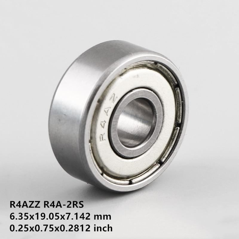 "50/100pcs R4A R4AZZ R4ARS R4A-2Z R4AZ R4A-2RS ZZ RS RZ 2RZ Deep Groove Ball Bearings 6.35 x 19.05 x 7.142mm 1/4"" x 3/4"" x 9/32"""