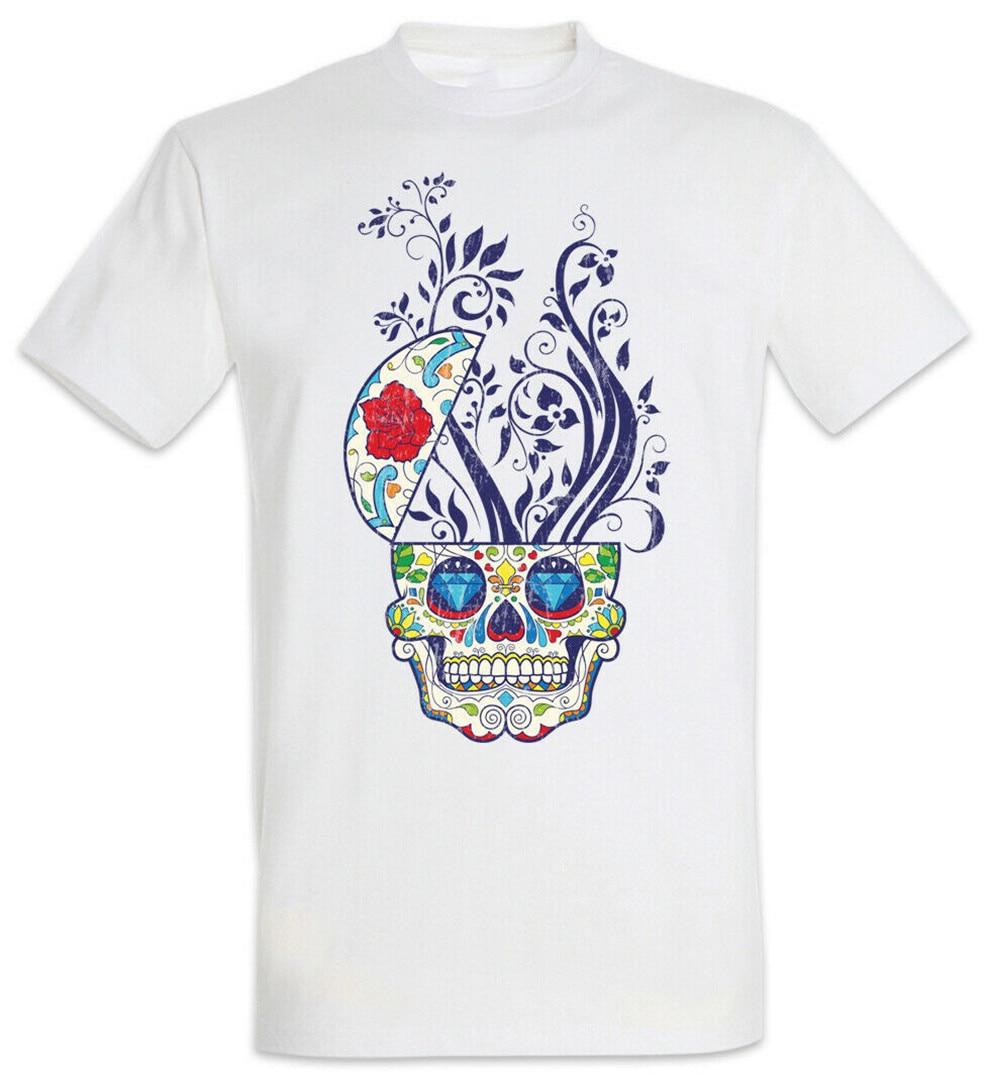 ¿Camiseta con planta Holi Tattooist cráneos México holgados de talla grande? Camiseta