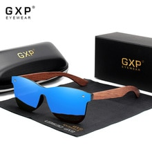 GXP Natural Wooden Sunglasses Men Polarized Fashion Sun Glasses Original Wood Oculos de sol masculin