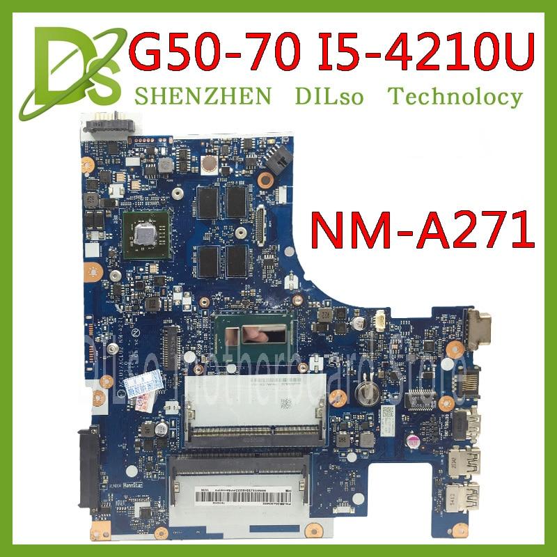 KEFU G50-70 para Lenovo G50-70 Z50-70 G50-70M placa base ACLU1/ACLU2 NM-A271 Rev1.0 I5-4210U con R5 gráficos prueba de tarjeta