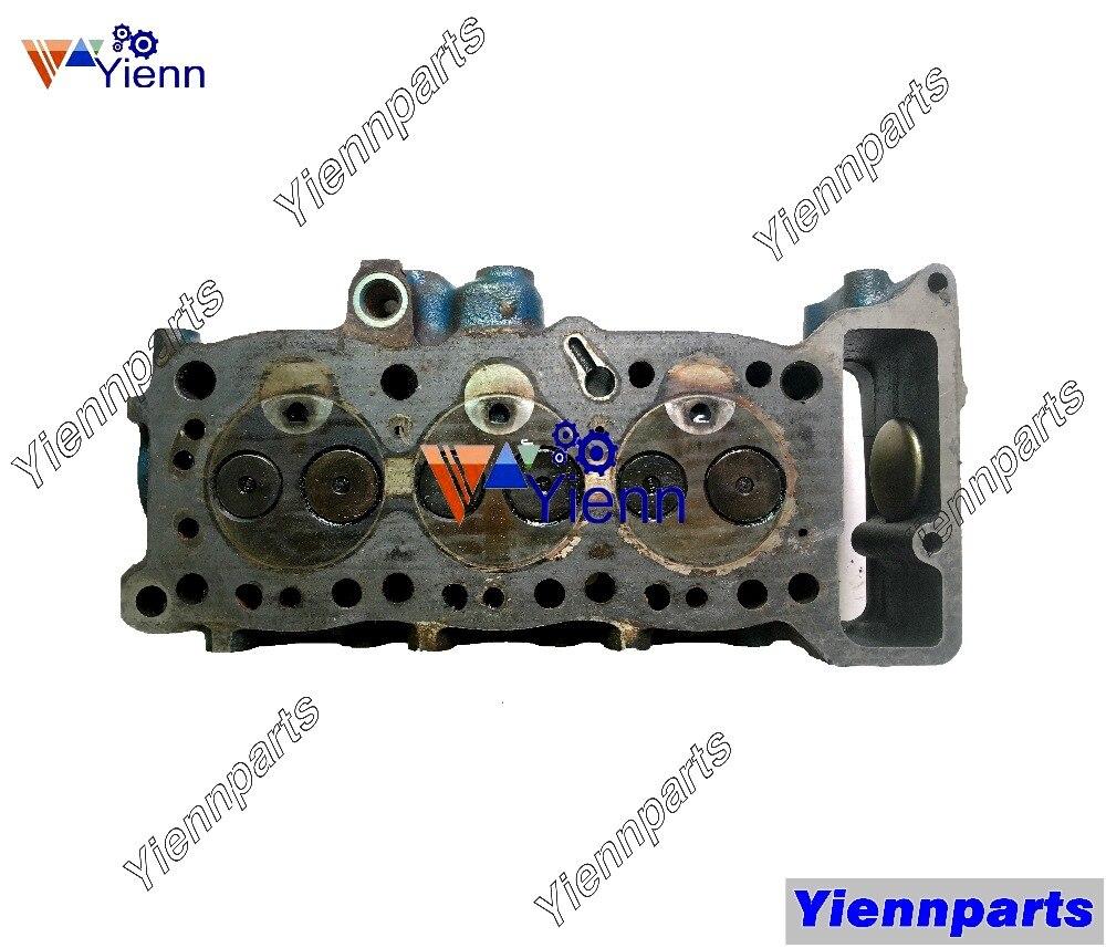 Montaje de culata para ISUZU 3KC1, pieza usada para HANIX S15 B15 EX12 EX15 EX20 EX30 SB15, mini-excavadoras 3KC1, piezas de motor diésel