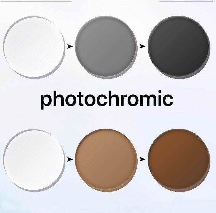 BAUS-عدسات فوتوكرومية مضادة للإشعاع ، عدسات بصرية مضادة للإشعاع ، وصفة طبية من HMC ، رمادي وبني