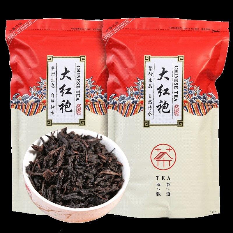 Té chino da-hong Pao de 250g, gran túnica roja, té Oolong, comida verde original, Té Wuyi Rougui para el cuidado de la salud, té para perder peso