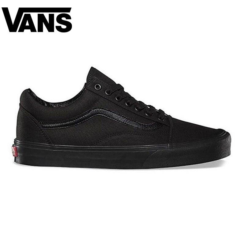 Auténtico Vans Old Skool de las mujeres de los hombres zapatos de skate zapatos cómodo clásico blanco zapatillas de lona