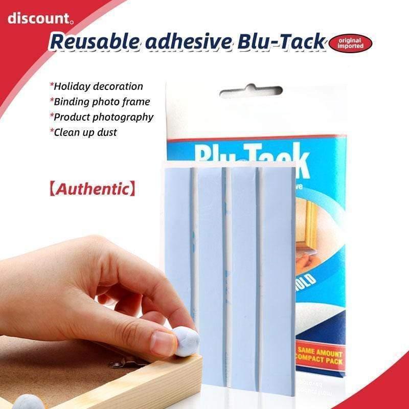 4 tiras/pces adesivo reutilizável blu-tack multiuso casa escritório escola removedor de sujeira putty tabs 75g