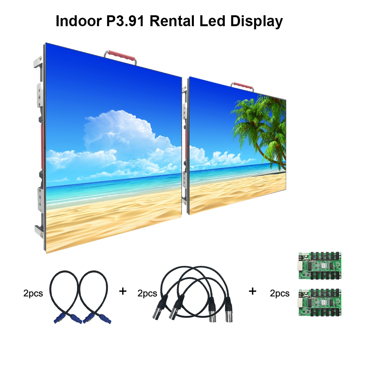 P3.91 Indoor  Rental LED Display Screen 500*500mm Resolution 128*128dots P2.6/P4.8 Full Color Led  Advertising Video Wall