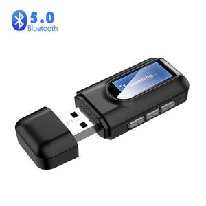 5.0 Bluetooth Adapter Wireless Audio Bluetooth Transmitter Receiver for PC TV Car 3.5mm AUX  Bluetooth Receiver Sender Adaptador