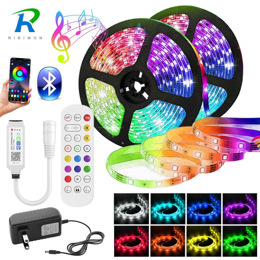 5050 LED Strip Light 5M-30M Bluetooth RGB 2835 SMD Flexible Ribbon led light strip RGB Tape Diode DC 12V Music Bluetooth Control