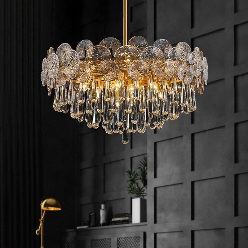 ضوء الفاخرة كريستال الثريا ما بعد زجاج حديث الثريا الإبداعية مصباح لغرفة المعيشة غرفة الطعام غرفة نوم فاخرة مصابيح