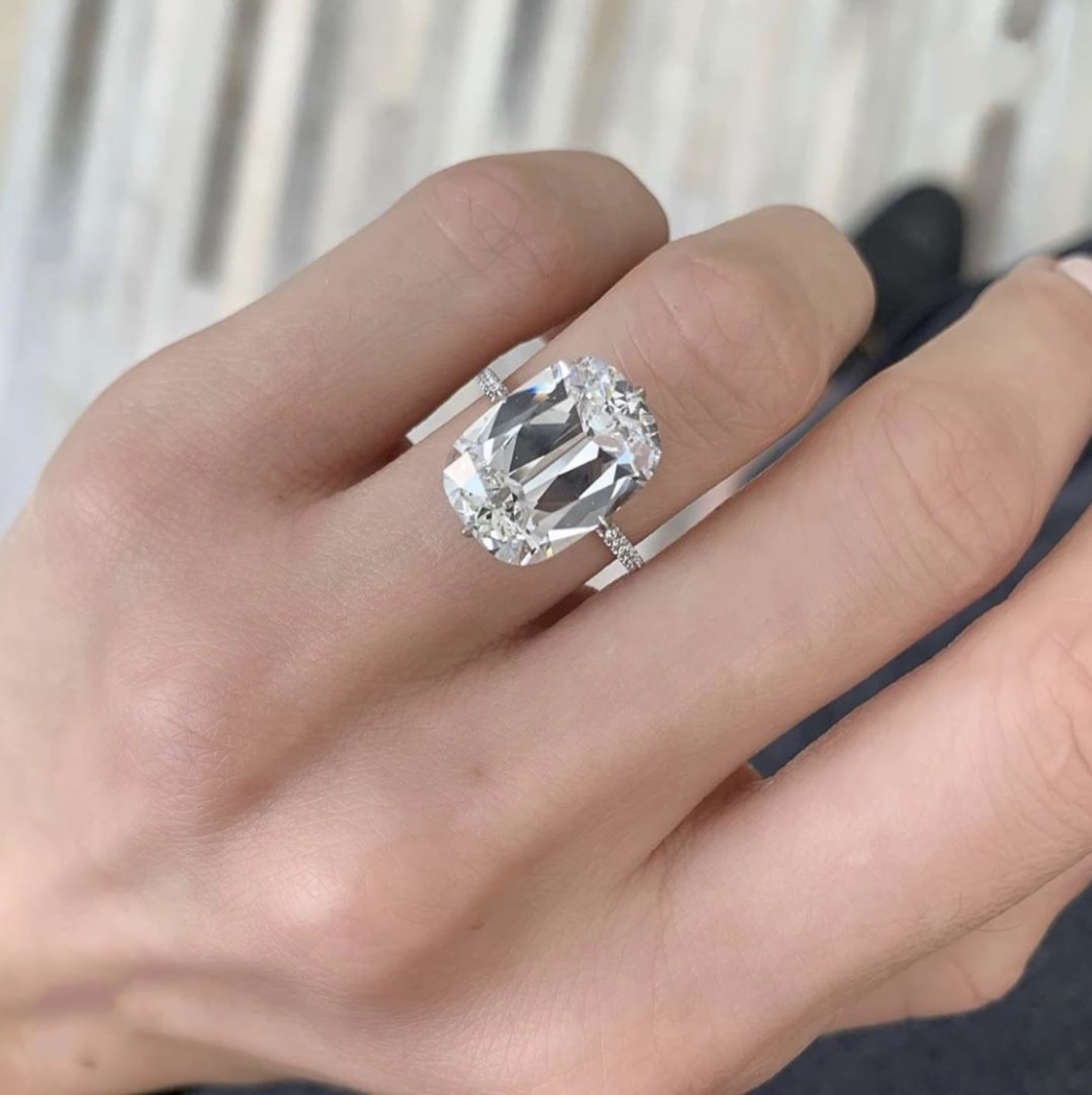 Anillo de compromiso femenino brillante, anillo cuadrado de Plata de Ley 925, anillos de boda de diamante de 5ct para mujeres, joyería nupcial moissanita