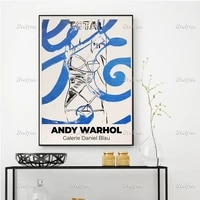 andy warhol exhibition poster minimalism abstract wall art prints home decor canvas unique gift floating frame