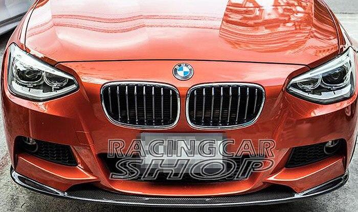 3D style Real CARBON FIBER FRONT LIP SPOILER for BMW F20 1-SERIES M TECH M SPORT BUMPER 11-14 B118