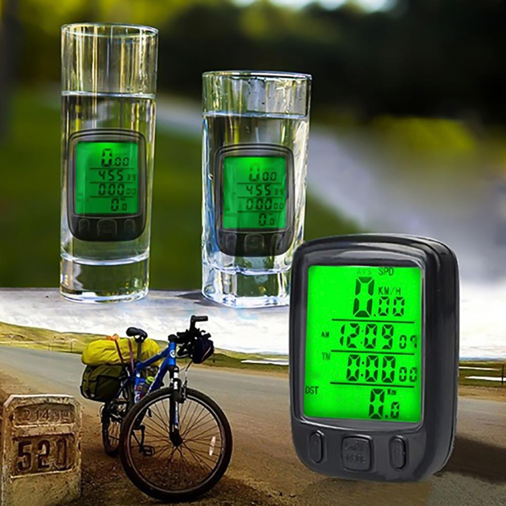 Odometer LCD Screen Waterproof Plastic Backlight Speedometer for Cycling