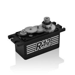 Servo de alta tensão 6.0-8.4 v de hd r12 digitas para o modelo 41mm x 20mm do carro de 1/10 rc x 26.4mm