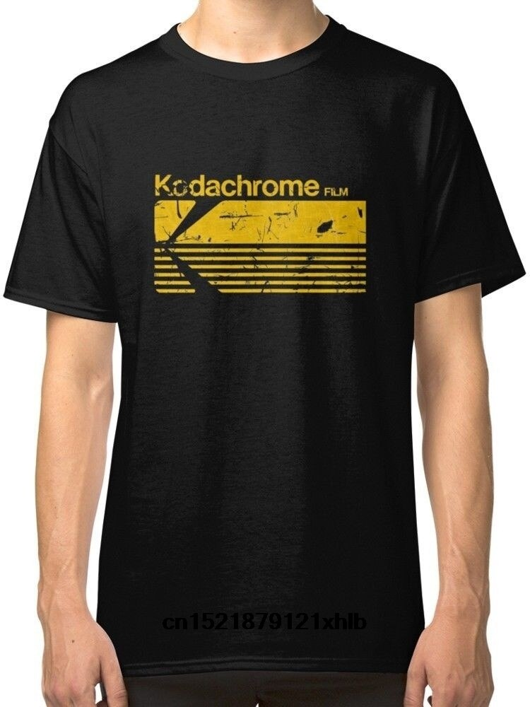 Camiseta masculina moda vintage fotografia kodak kodachrome preto camisetas roupas tendência camiseta novidade tshirt