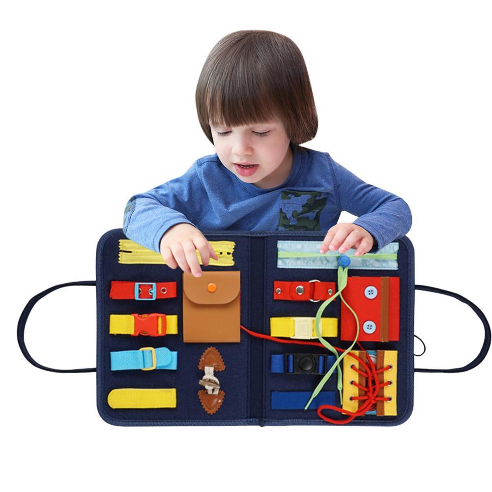 Juguete Montessori de gran calidad, tablero sensorial educativo esencial para niños pequeños, juguete educativo de desarrollo de inteligencia por 1-5 años