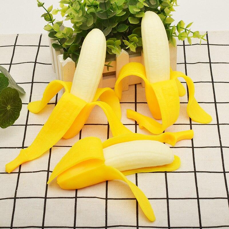 Spoof peeling bananas brinquedos de descompressão jogos squish brincadeira engraçado truque piada gags piadas práticas estresse alívio do mal presente
