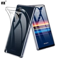 Per Sony Xperia 5 1 10 II Slim Crystal Clear Trasparente TPU Caso della Parte Posteriore di Protezione Della Pelle Della Macchina Fotografica Protegge La Copertura