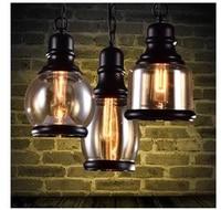 3 styles industrial style amber glass retro loft chandelier bar restaurant retro room bar bed room chandelier