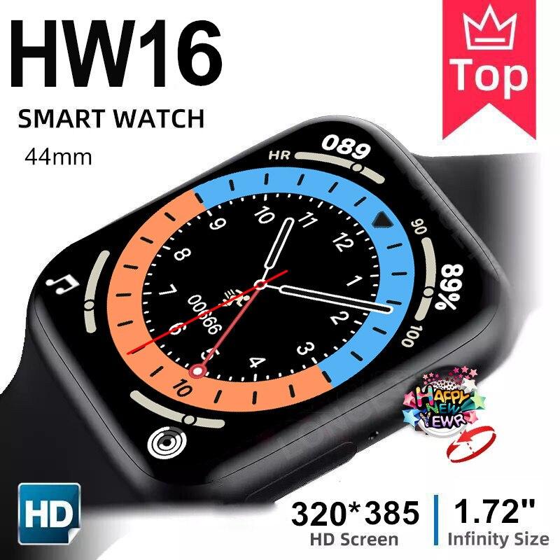 Longet hw16 relógio inteligente 44mm 320*385 bluetooth chamada de oxigênio no sangue à prova dpk água smartwatch pk w56 w46 w26 fk88 iwo 6 hw12