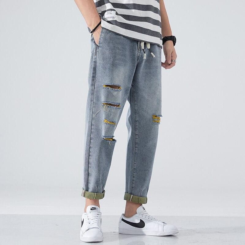 2021 брендовая одежда джинсы мужские свободные стильные брюки одежда в стиле хип-хоп осень-зима весенние мужские джинсы больших размеров, 38, 40...