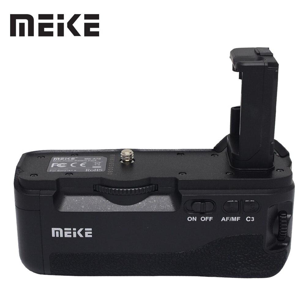 travor camera battery grip holder for sony stl a77 a77v a77ii a99ii replace vg c77am work with np fm500h battery MEKE BG-A7II Vertical Battery Grip Holder for Sony A7II A7S2 A7S A7M2 A7R2 A7R II as VG-C2EM Camera Meike MK-A7II