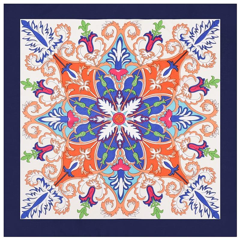 2020 60x60 flor impressão multiuso feminino sarja de seda lenço cetim laço quadrado hairband senhoras foulard femme toalha bufanda xale