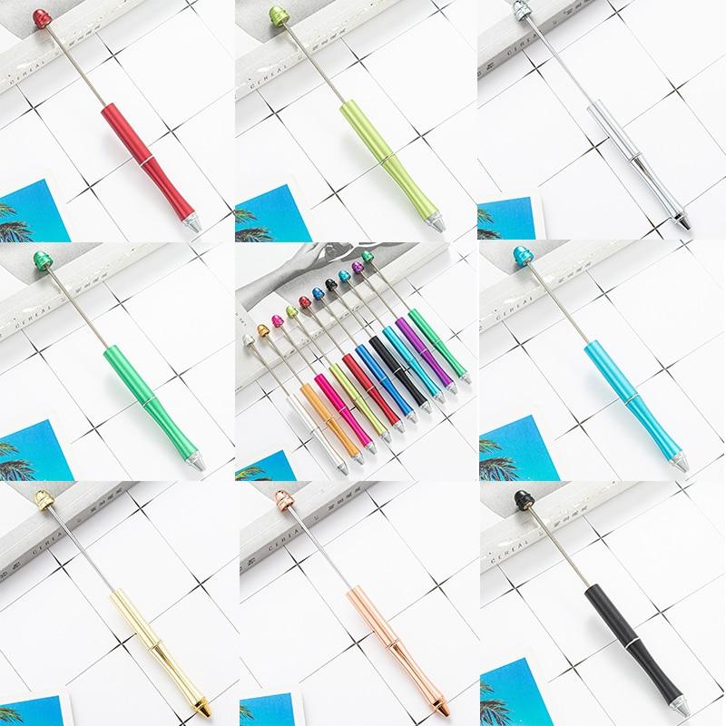 Металлическая ручка с бусинами, 5 шт., подарки для вечеринок, свадебные сувениры, подарок на день Святого Валентина, креативная шариковая руч...