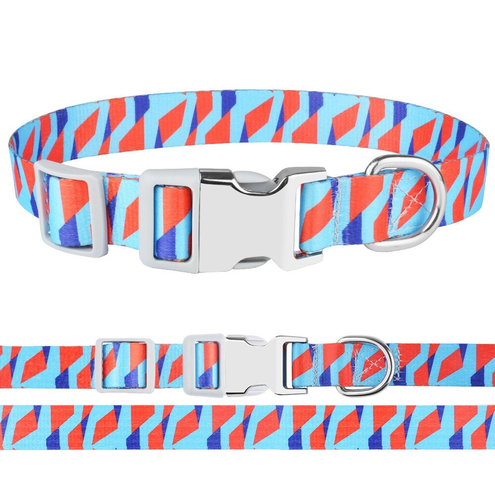 Collar de perro AiruiDog ajustable Floral S M L